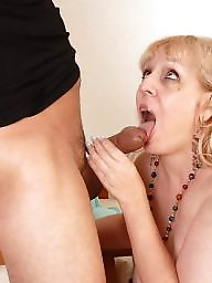 Milk, Mature facial, Cock, Milking, Sucking, Mature sucking