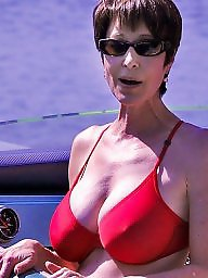 Mature beach, Big boobs, Beach mature