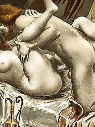 Art, Erotic, Vintage sex, Vintage cartoon, Sex cartoon, Group sex