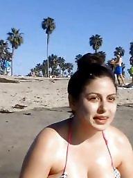 Cleavage, Candid, Hidden cam, Busty beach, Busty, Candids