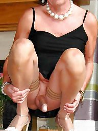 Upskirt, Mature upskirt, Stocking, Mature stocking, Stockings, Upskirt mature