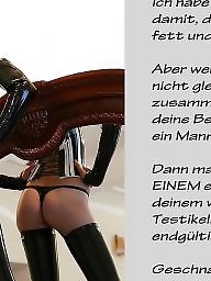 Captions, German captions, Femdom, Caption, German caption, German