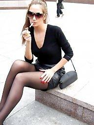 Nylons, Street, Nylon upskirt, Upskirt stockings, Amateur nylon