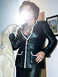 Leather, Mature leather, Milf in leather