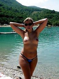 Beach, Satin, Big boobs, Amateur, Big, Boobs
