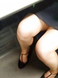 Home, Train, Upskirt flashing, Voyeur upskirt, Training, Upskirt voyeur