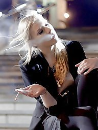 Smoking, Smoke, Teen tits, Outfit