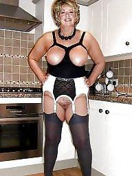 Lingerie, Mature lingerie, Stocking mature