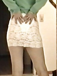 Lace, Skirt, White, Tight skirt, Slutty, Skirts