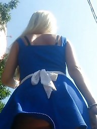 Blonde, Upskirt, Upskirts, Hidden, Spy, Blonde teen