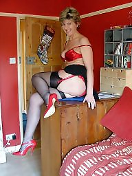 Mature, Uk mature, Mature stocking, Mature in stockings, Stockings mature, Red