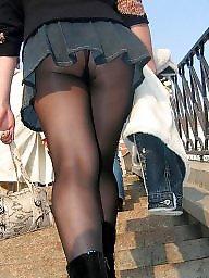 Street, Upskirt stockings