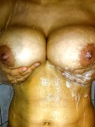 Shower, My wife, Big amateur tits, Amateur big tits, Showers, Wifes tits