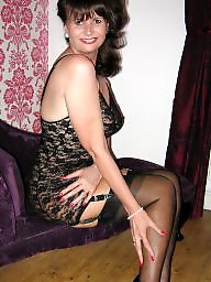 Stockings, Mature stockings, Wank, Wanking