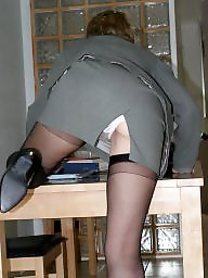Office, Uk mature, Stocking