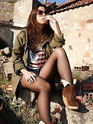 Nylon, Street, Upskirt stockings