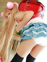 Teen, Asian, Cosplay, Asian teen, Teen asian, Upskirt teen