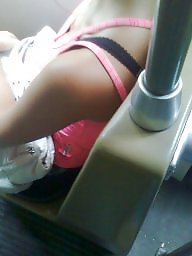 Downblouse, Bus, Hungarian, Voyeur teen
