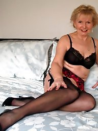 Stocking, Mature stockings, Blonde mature, Mature blonde, Mature blond