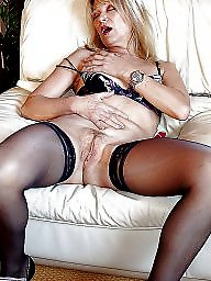 Stocking, Mature blonde, Italian, Matures, Blonde mature, Stockings mature