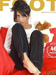 Brunette, Arabian, Teen feet