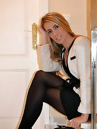 Milf stockings, Nylons, Dressed, Heels, Legs, High