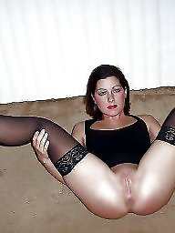 Open, Wide open, Wide, Upskirt stockings