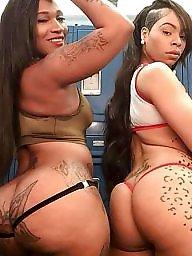 Ebony ass, Black tits, Stripper