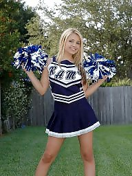 Dress, Blonde, Dressed, Cheerleader, Sexy dress, Dressing