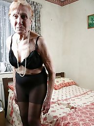 Granny, Old granny, Granny stockings, Strip, Mature stockings, Granny stocking