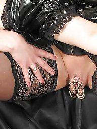 Piercing, Mature stocking, Pierced, Milf stocking, Beautiful mature