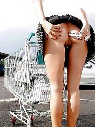 Upskirt, Public voyeur, Public nudity