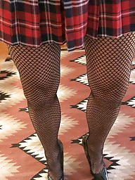 Fat, Skirt, Cock, Heels, Fishnet
