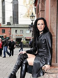 Pvc, Boots, Leather, Latex, Mature porn, Mature leather