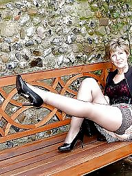Uk mature, Mature uk, Stockings, Stocking mature