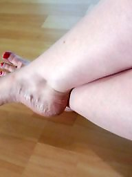 Stocking, Stocking feet, Feet, Wifes, Amateur feet, Milf feet