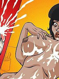 Interracial cartoons
