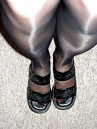 Tights, Tight, Amateur stocking, Amateur pantyhose, Black amateur