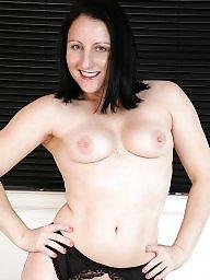British, Milf ass, Milfs, Brunette milf, British milf