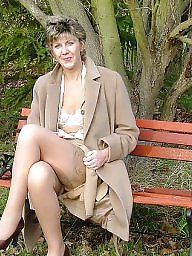 Uk mature, Mature in stockings, Country