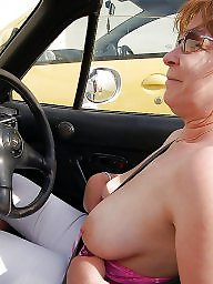 Car, Cars, Mature women, Mature car, Big matures