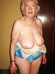 Granny, Saggy, Saggy tits, Saggy boobs, Hairy granny, Granny tits