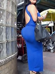 Huge, Fat ass, Fat, Huge ass, Candid, Dress