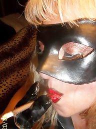 Mask, Behind, Femdom milf