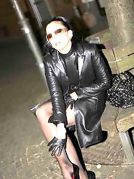 Boots, Leather, Pvc, Latex, Mature, Mature leather