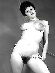 Vintage hairy, Vintage amateur, Hairy amateur, White and black