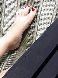 Feet, Hidden, Stocking feet, Candid feet