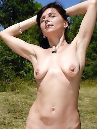 Beach, Mature tits, Mature beach, Nature, Natural tits, Natural