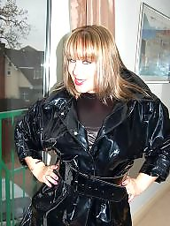 Latex, Leather, Pvc, Mature leather, Moms, Mature lady