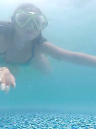 Wet, Underwater, Milf amateur, Wetting, Messy